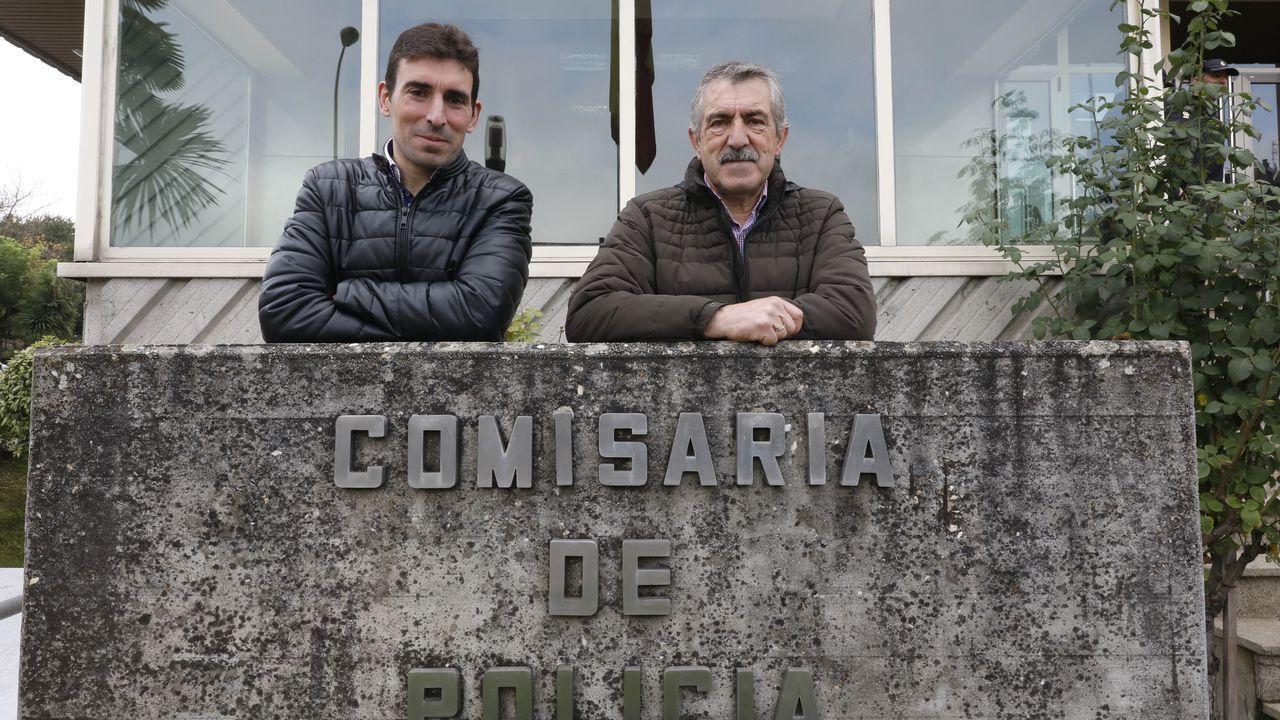 Las Rebajas arrancan con fuerza en Vigo.Comisaría de la Policía Nacional en Gijón