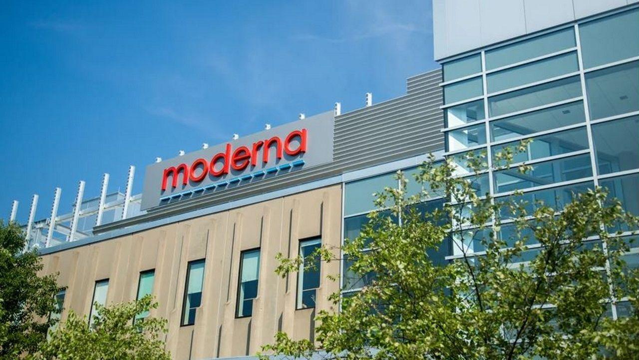 Sede de la farmacéutica estadounidense Moderna
