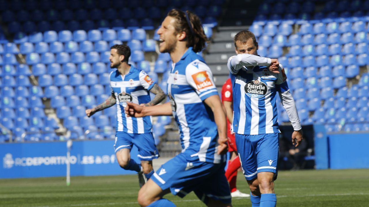 El Dépor, con el ojo puesto en la segunda fase.Keko celebra su gol ante el Zamora