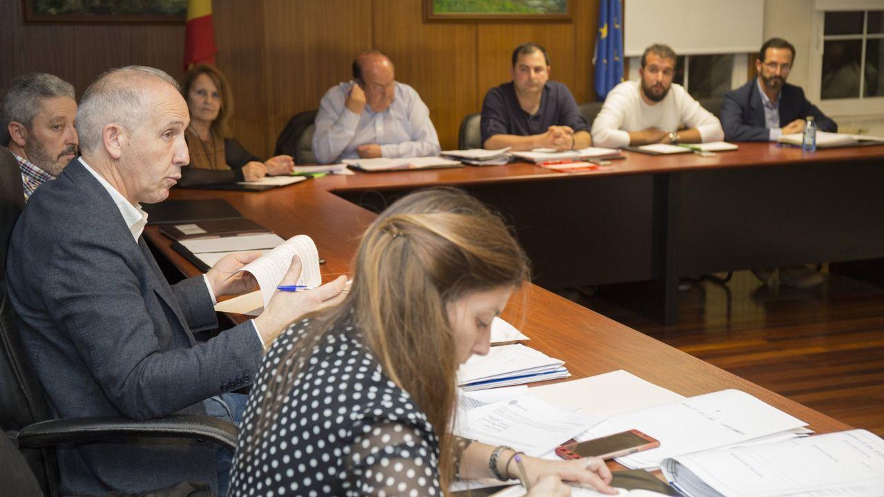 Imagen de archivo de un pleno en Coristanco