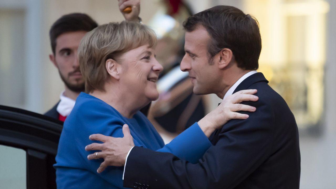 Merkel y Macron, en un reciente encuentro en el palacio del Elíseo