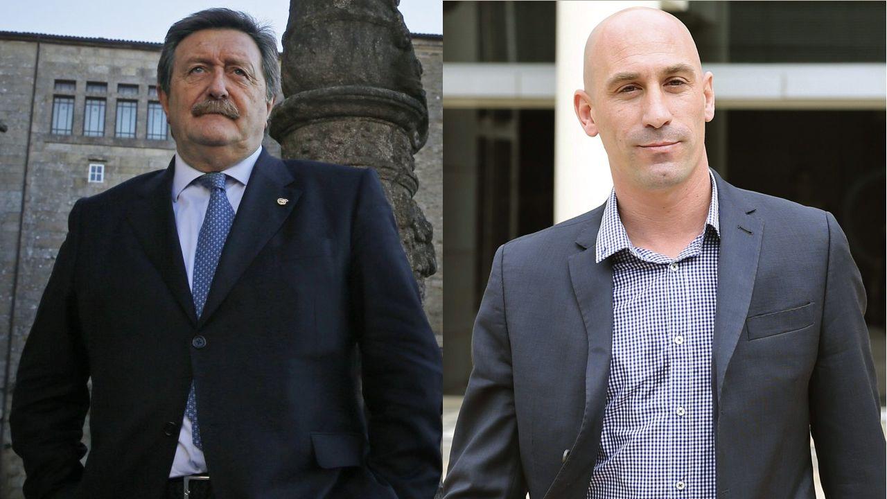 La machadadel Dépor en San Mamés, en imágenes.Larrea y Rubiales se disputan la presidencia de la RFEF
