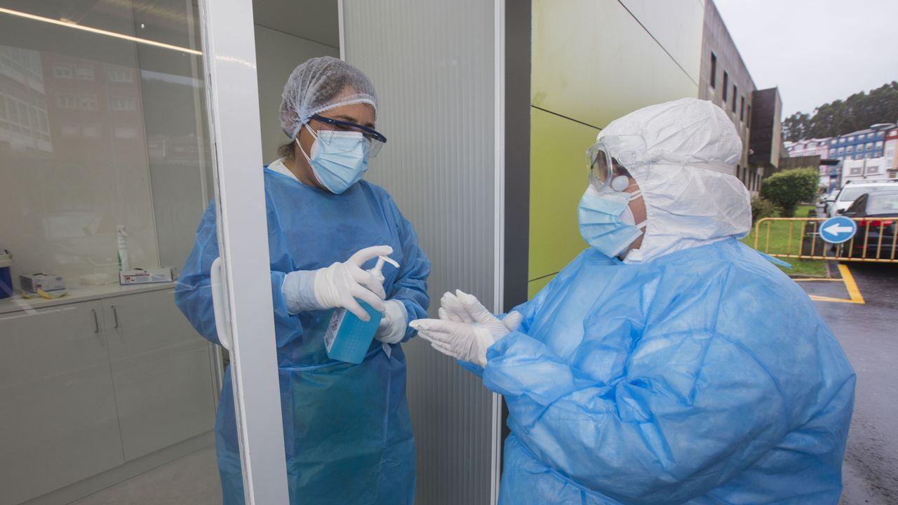 Sanitarias encargadas de las pruebas PCR en Cee