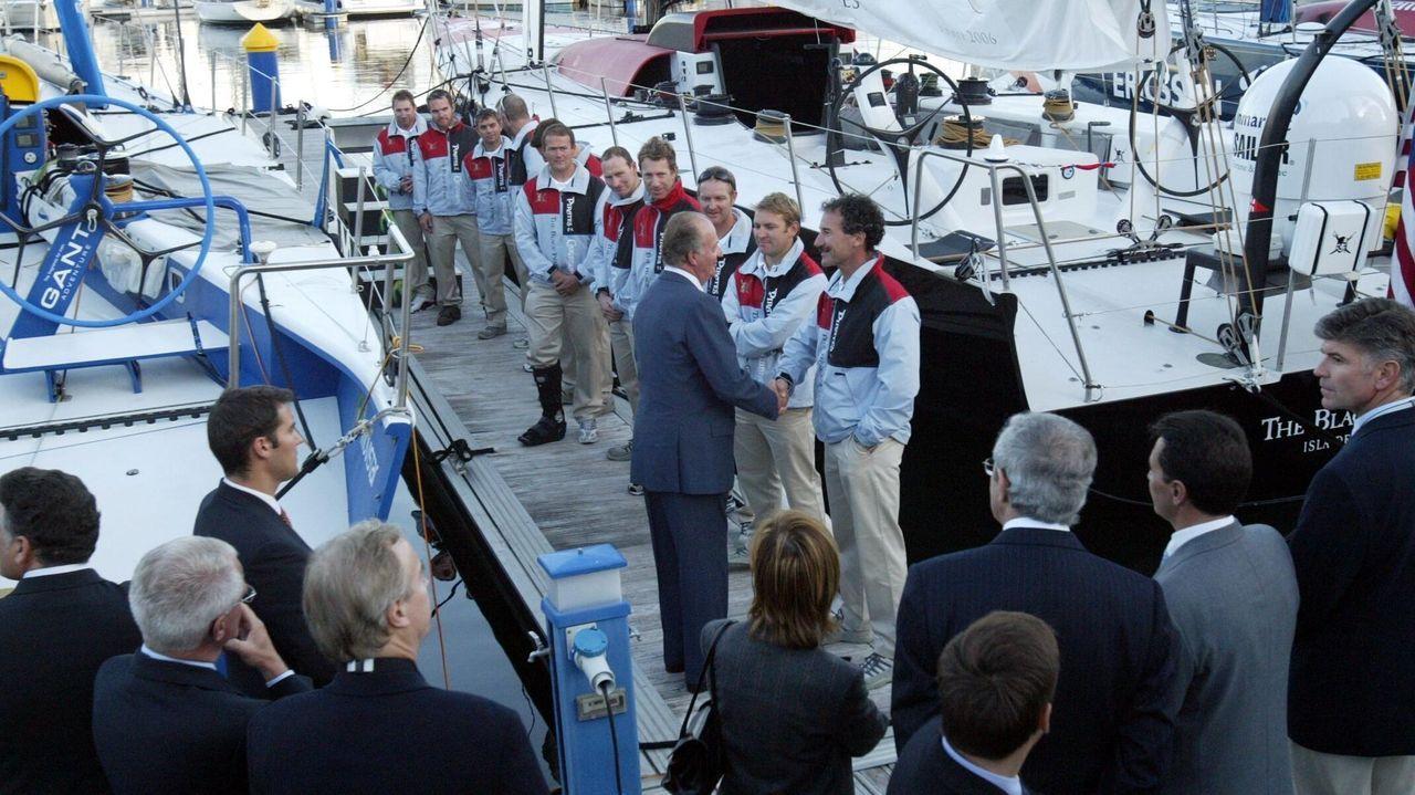 Inauguración del puerto deportivo de Sanxenxo en noviembre de 2005 junto al presidente Emilio Pérez Touriño