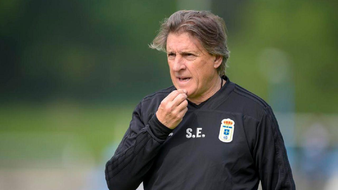 Egea Requexon Real Oviedo.Sergio Egea, en El Requexón