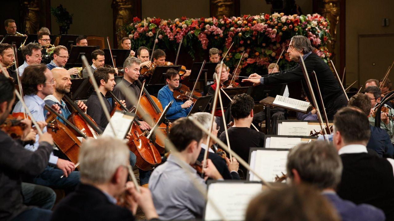 Riccardo Muti, en los ensayos con la Filarmónica de Viena para el Concierto de Año Nuevo del 2018