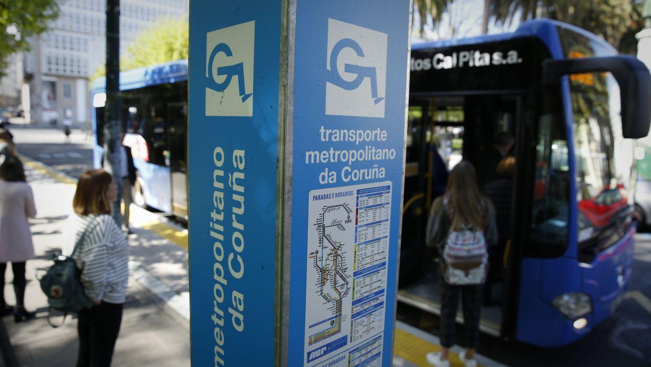 Transporte metropolitano, parada de Entrejardines en A Coruña