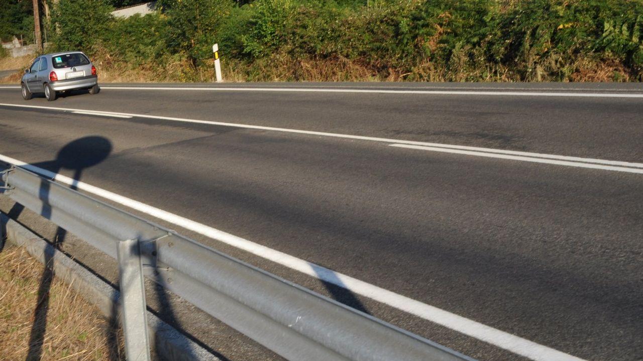 La N-640 a su paso por Antas de Ulla, en una imagen de archivo
