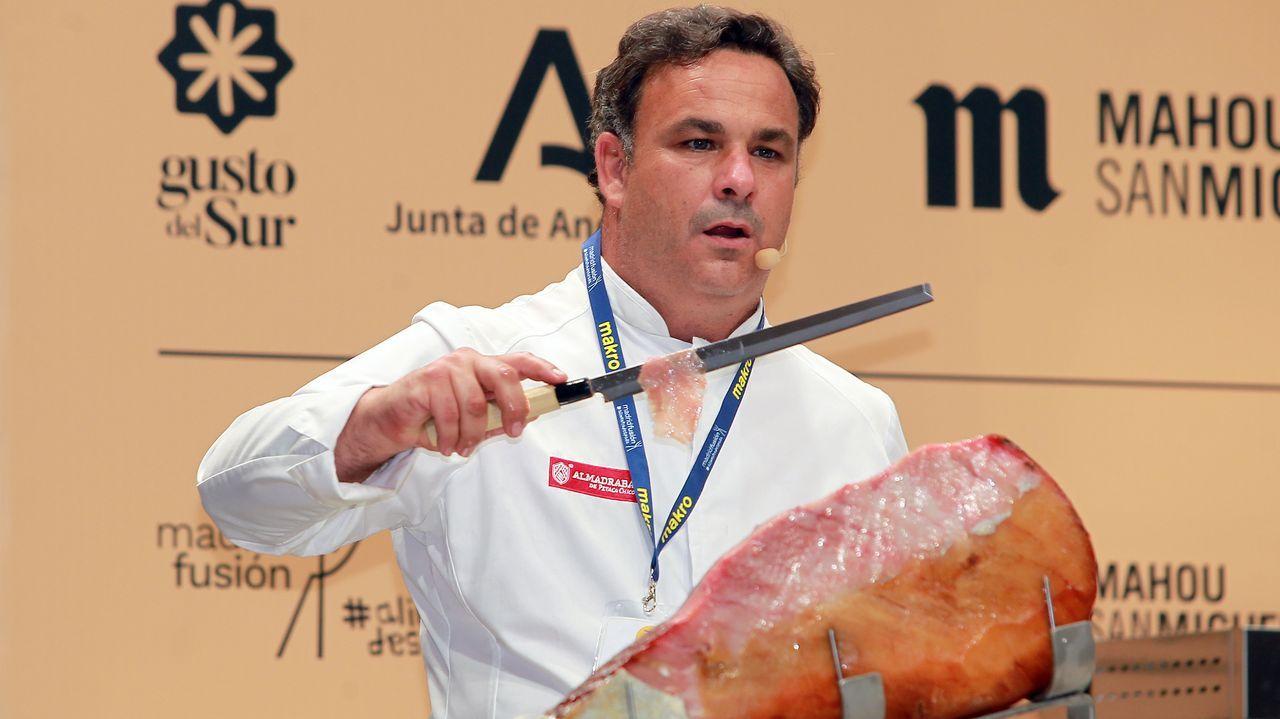 Él chef José Andrés, en una visita a A Coruña, en el marco del proyecto Chefs for Spain que impulsa la ONG World Central Kitchen