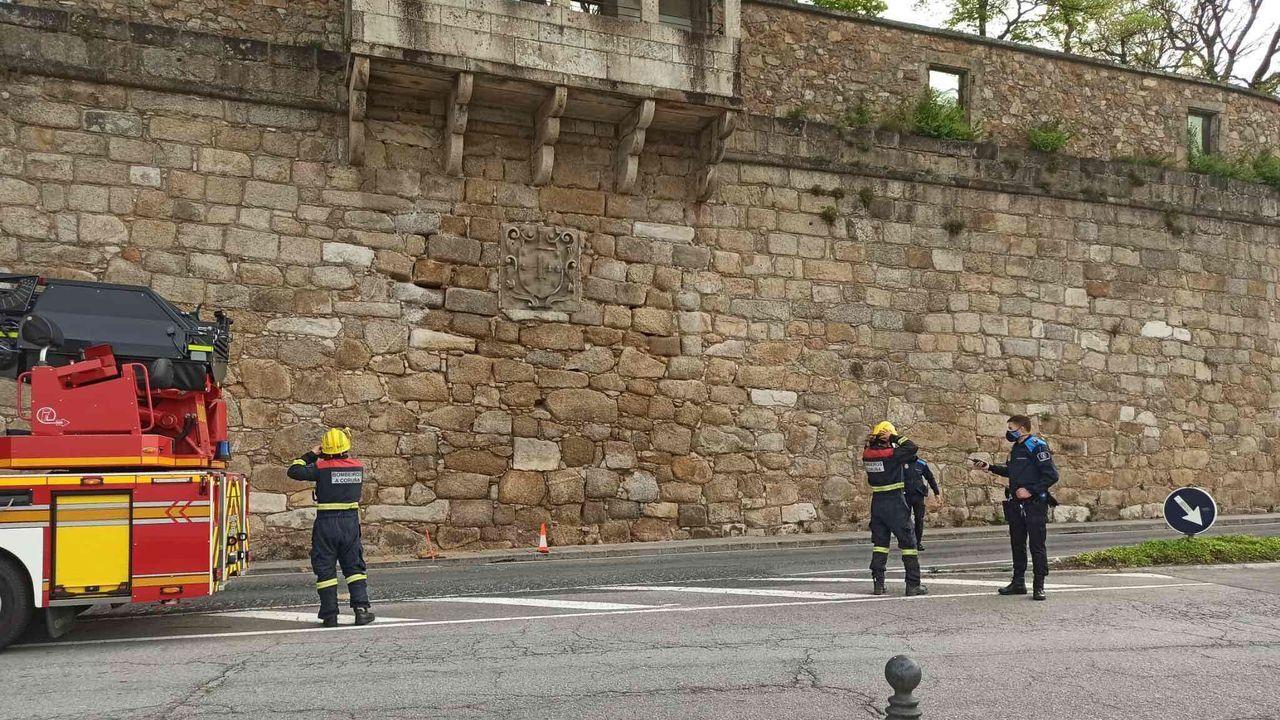 Venta de marisco en la plaza de Lugo.Imagen de archivo de una intervención de los bomberos de Arteixo