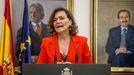 La exvicepresidenta Carmen Calvo