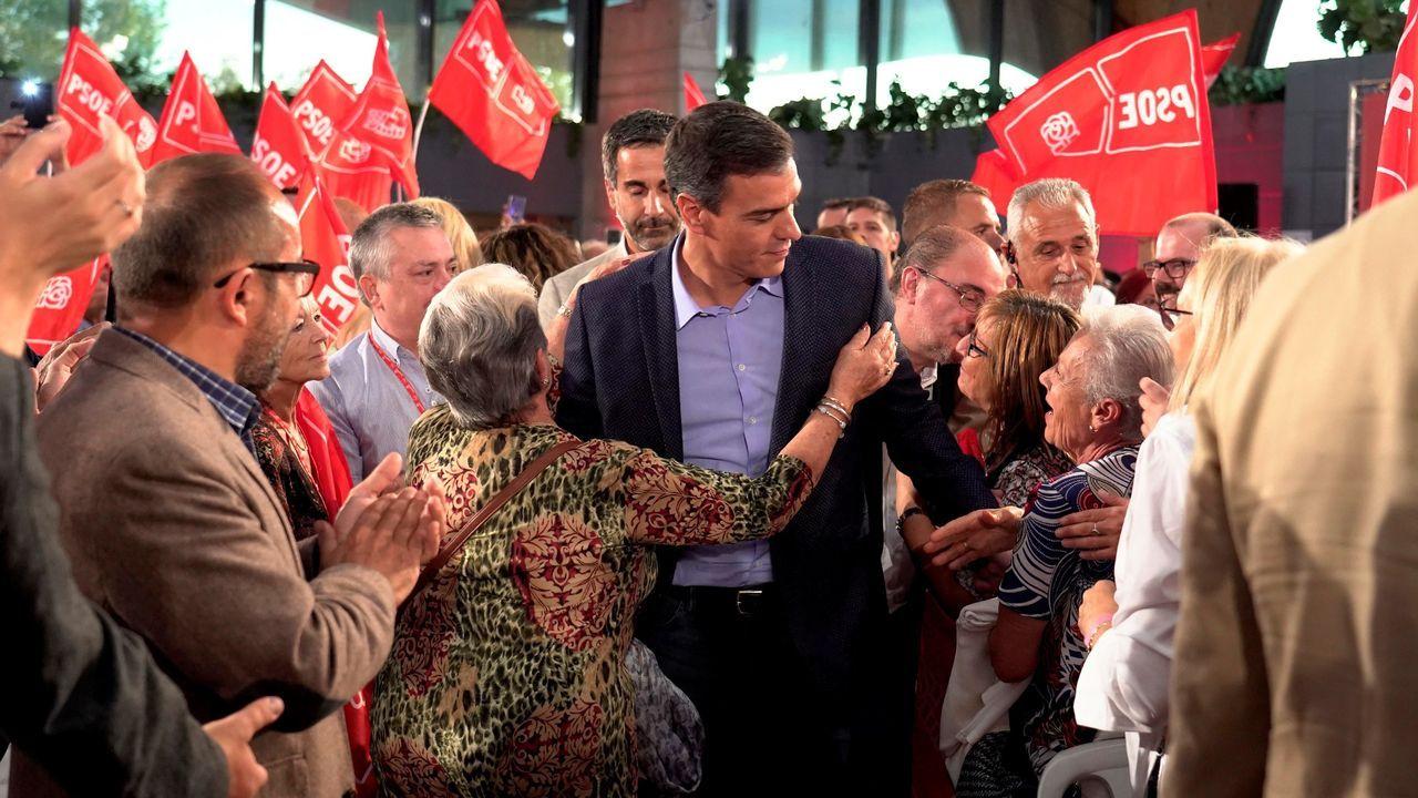 El presidente del Gobierno en funciones, Pedro Sánchez, este jueves en un acto en Teruel
