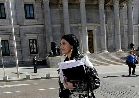Beatriz Figueroa, ante el Congreso de los Diputados.