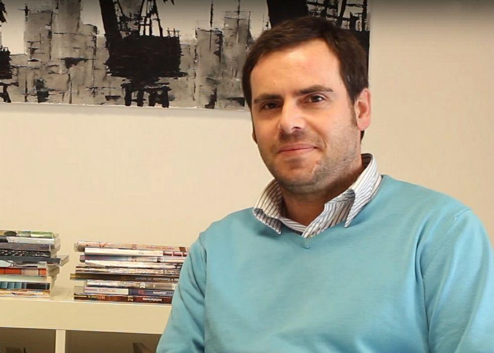 Fernando Eiroa Lorenzo en el estudio LCG Arquitectura que lleva con otro socio en A Coruña.
