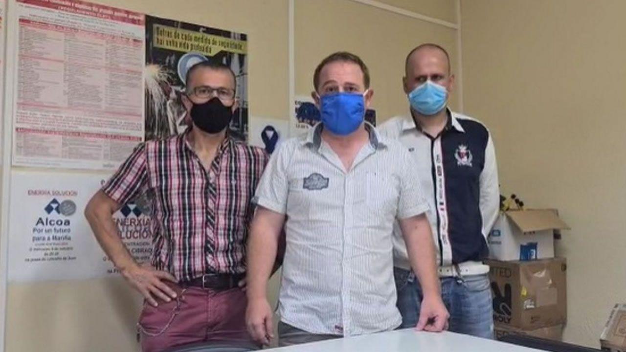 Vídeo del comité de Alcoa.El comité de Alcoa San Cibrao, en Loiba (Ortigueira)