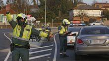 Control de la Guardia Civil de Tráfico este miércoles en una de las salidas de A Coruña