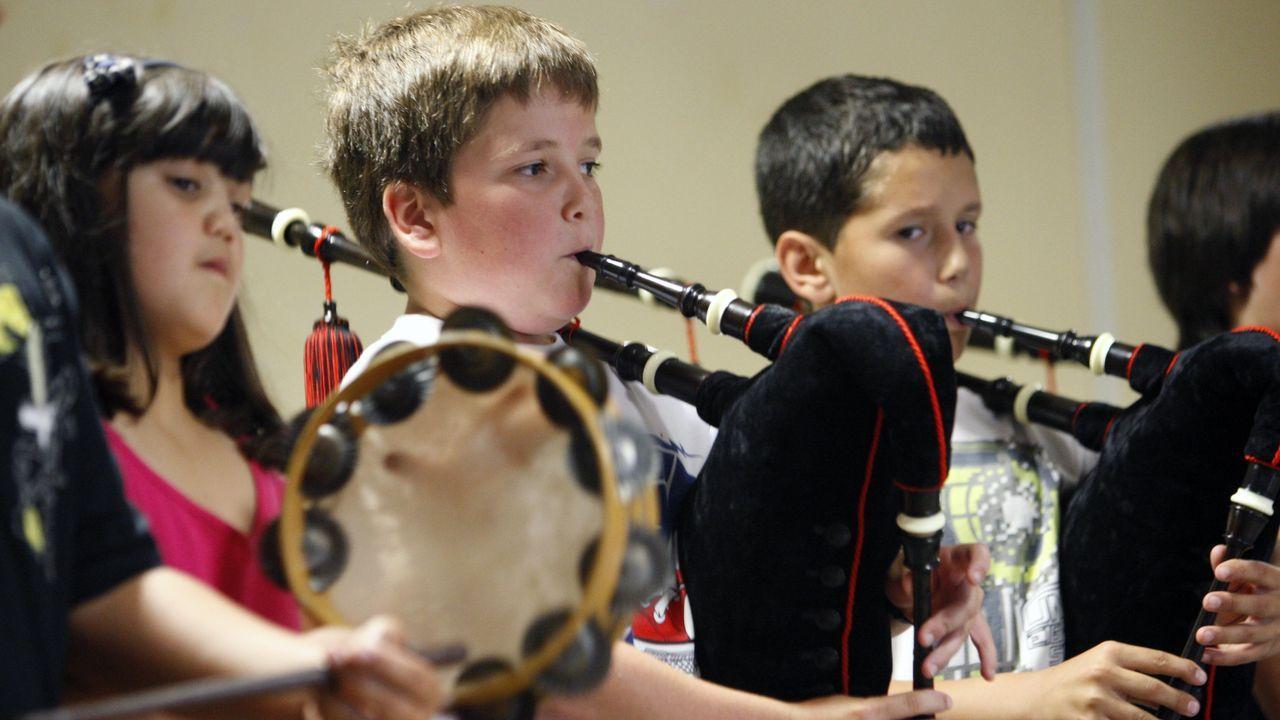 Actuación de alumnos da escola de música Samoeiro, nunha imaxe de arquivo