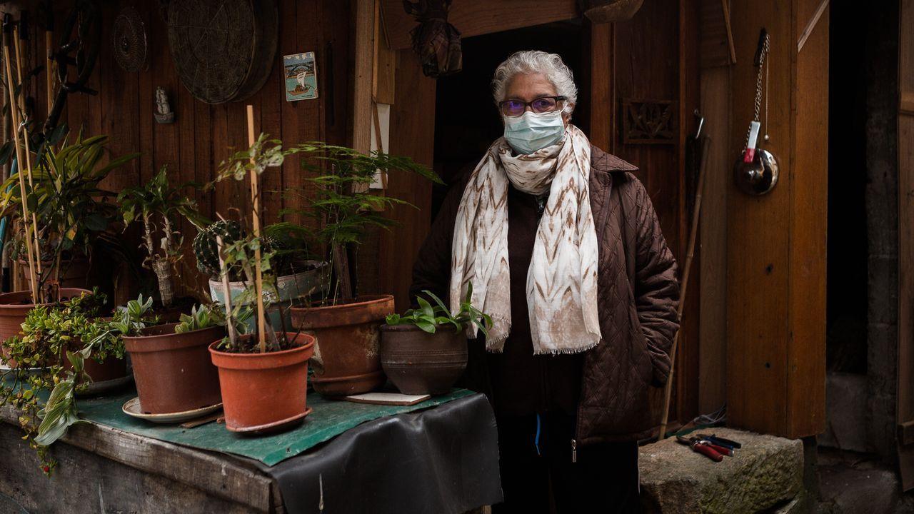 Eva González enseña su belén en Vilanova dos Infantes.Ángeles Puga, vecina de Figueiredo (Paderne de Allariz) que tuvo coronavirus