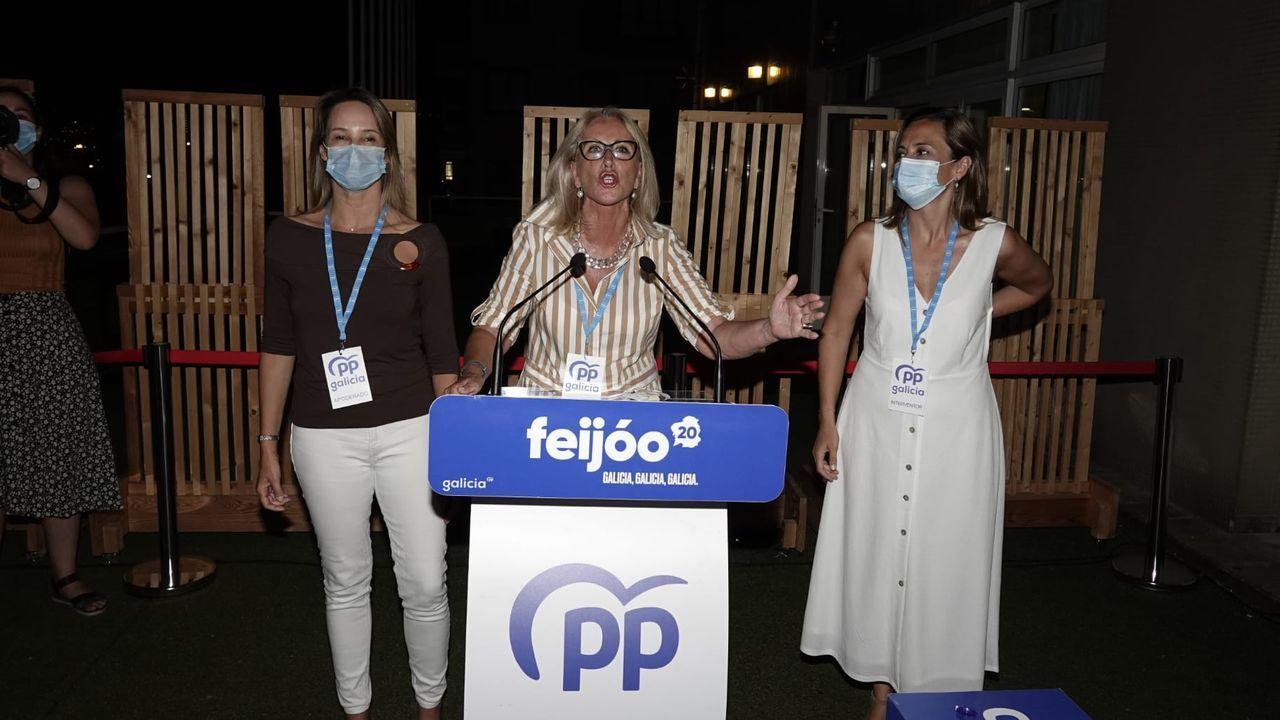 Corina Porro, del PP de Pontevedra, valora los resultados de las elecciones gallegas.