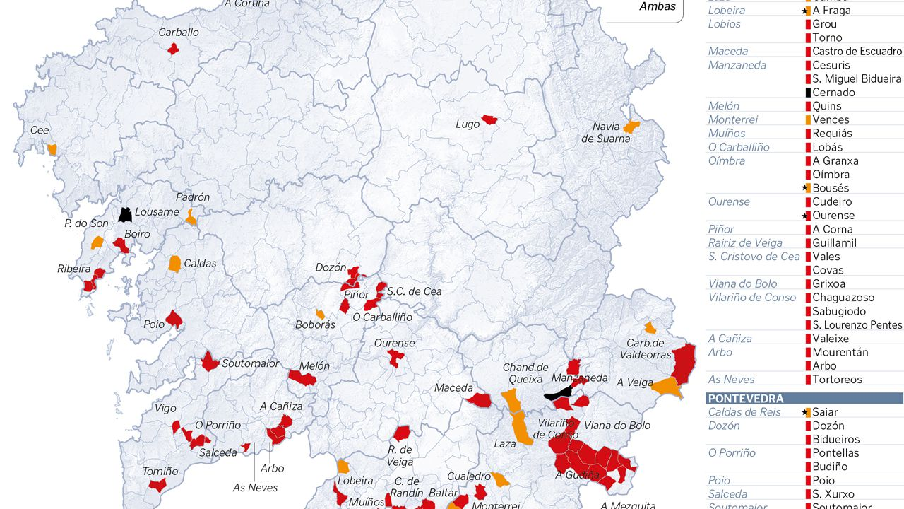 Parroquias de alta densidad incendiaria en el 2017