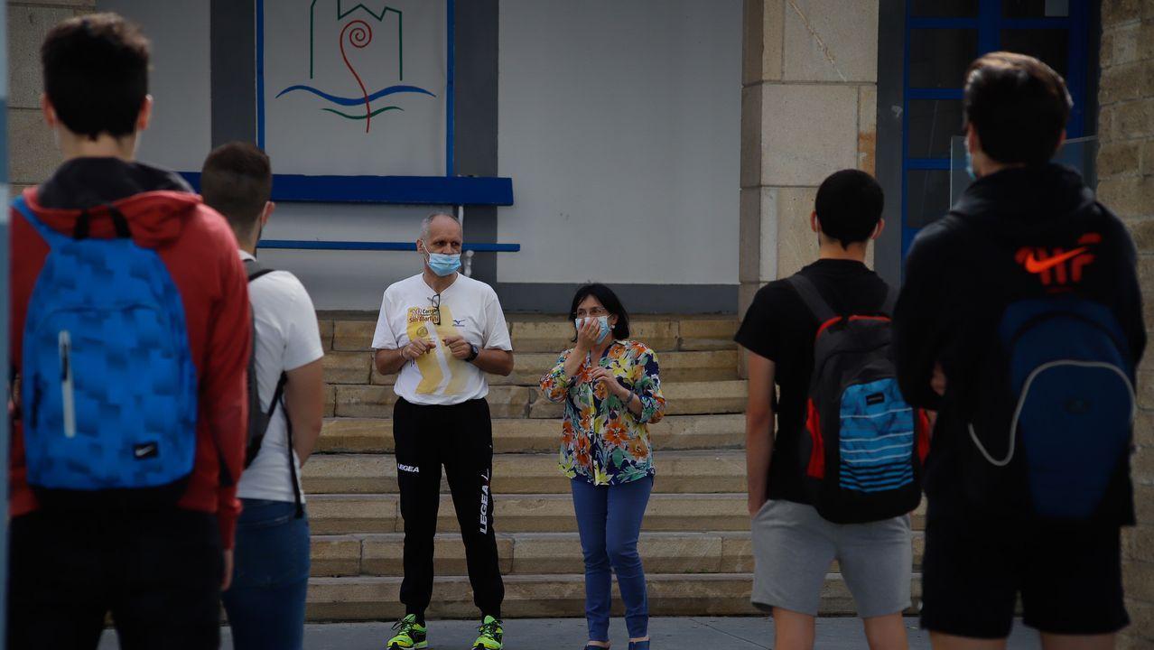 En el instituto Virxe do Mar, de Noia, los profesores han explicado a los alumnos las nuevas normas