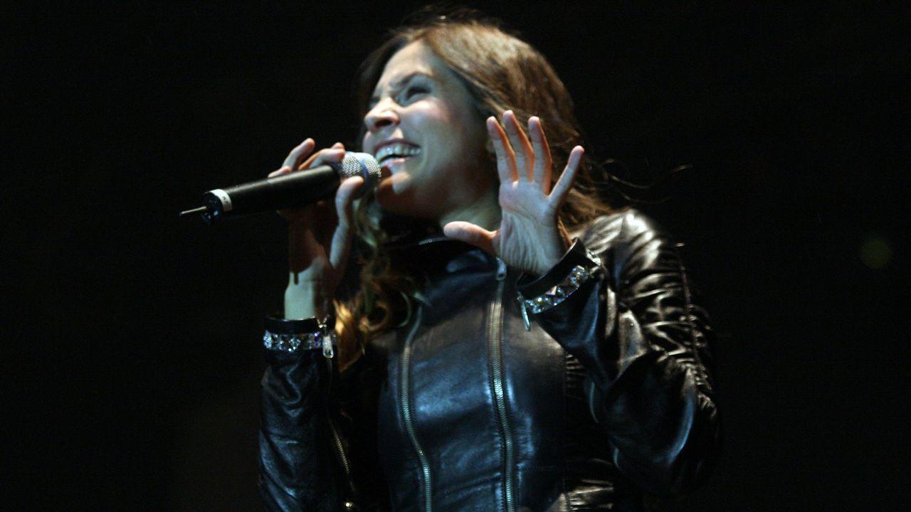 Leire Martínez, vocalista del grupo La Oreja de Van Gogh