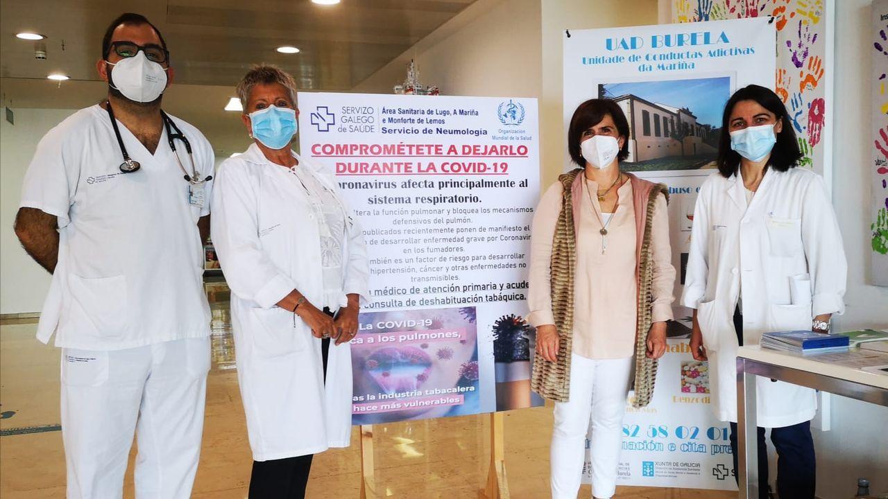 Vacunación contra el covid-19 en el Hospital Público da Mariña