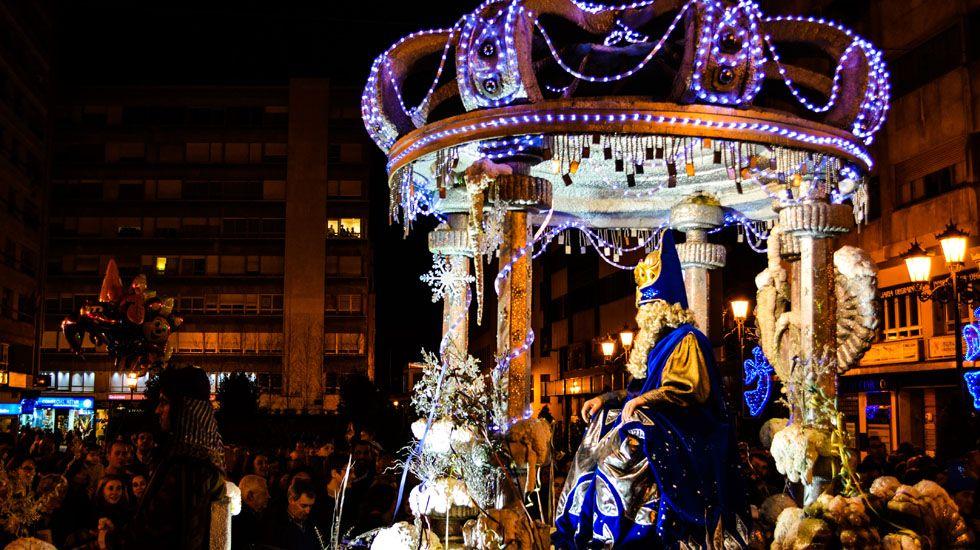 Oficialidad del asturiano.El rey Melchor en la cabalgata de reyes de Oviedo