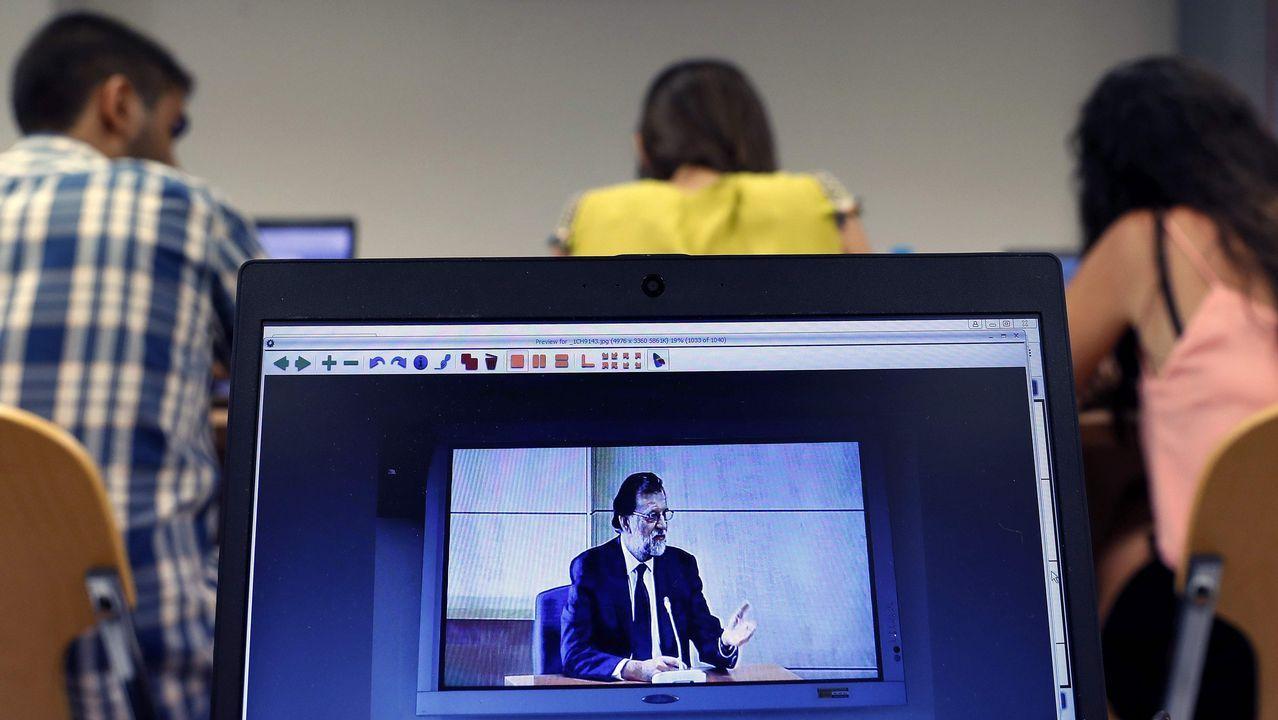 Rajoy retaa la oposición a que presente una moción de censura contra él.ISAAC PEDROUZO EN EL TORGAL DE OURNSE