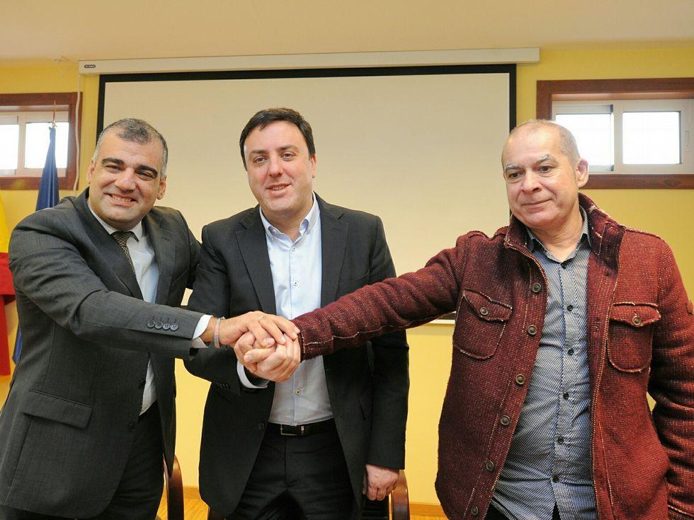 González Concheiro recibió a Formoso y al diputado Xosé Regueira.