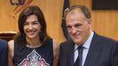 María José Rienda, presidenta del CSD, junto a Javier Tebas, presidente de la Liga
