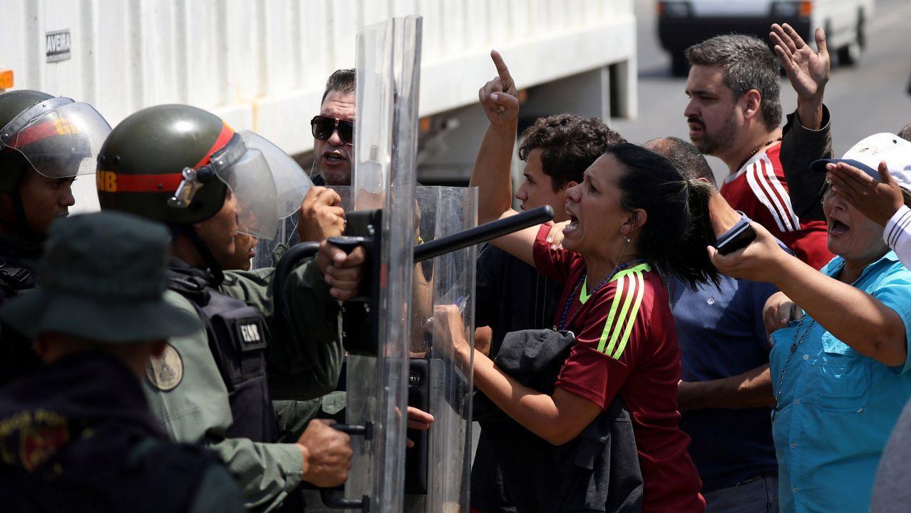 Adiós a un símbolo del «narcoterrorismo» en Colombia.Los seguidores de Guaidó se enfrentaron a la policía tras bloquearlos en Mariara