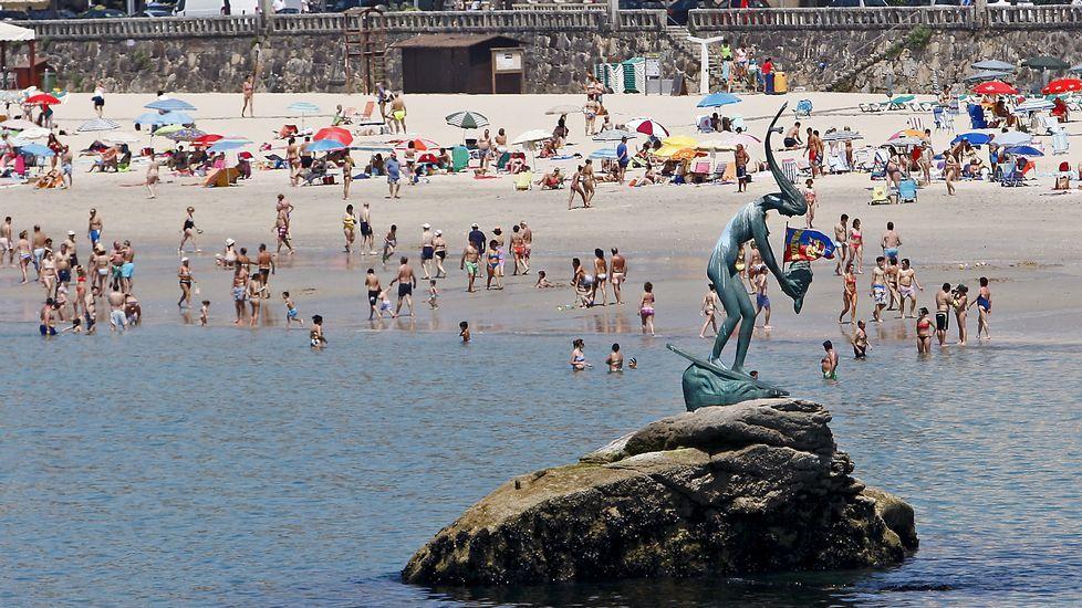 Imagen de la playa del Silgar en Sanxenxo.