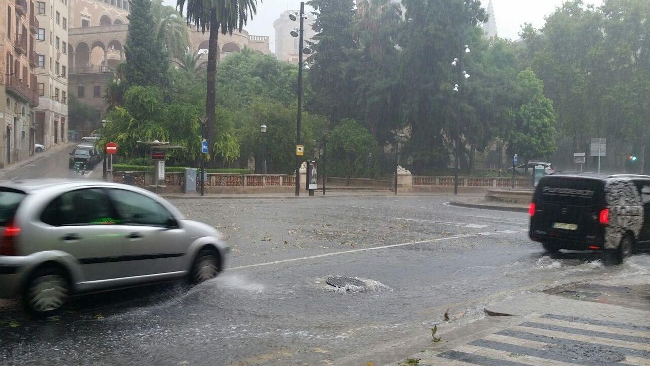 Imagen de archivo de una tromba de agua en Palma