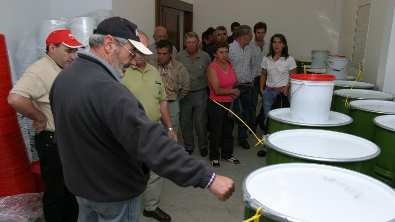 Una visita guiada a las instalaciones de la cooperativa apícola Cauru, en una imagen de archivo
