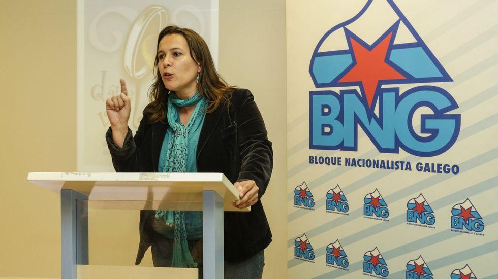 Miembros de la plataforma, tras reunirse con el ministro de Fomento, Íñigo de la Serna