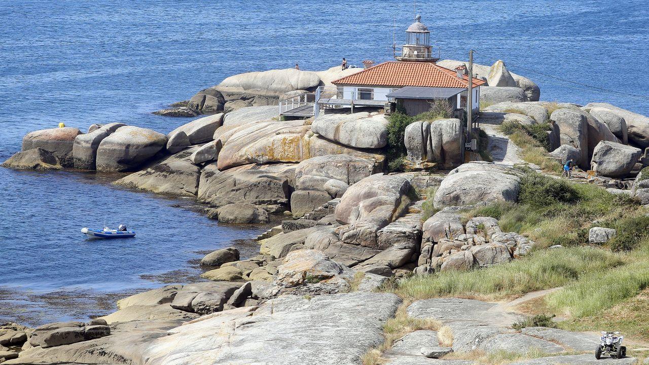 Faro de Punta Cabalo, en Arousa