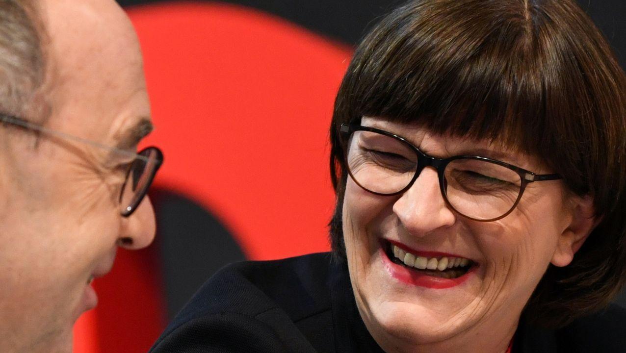 Los líderes del SPD, Norbert Walter-Borjans y Saskia Esken