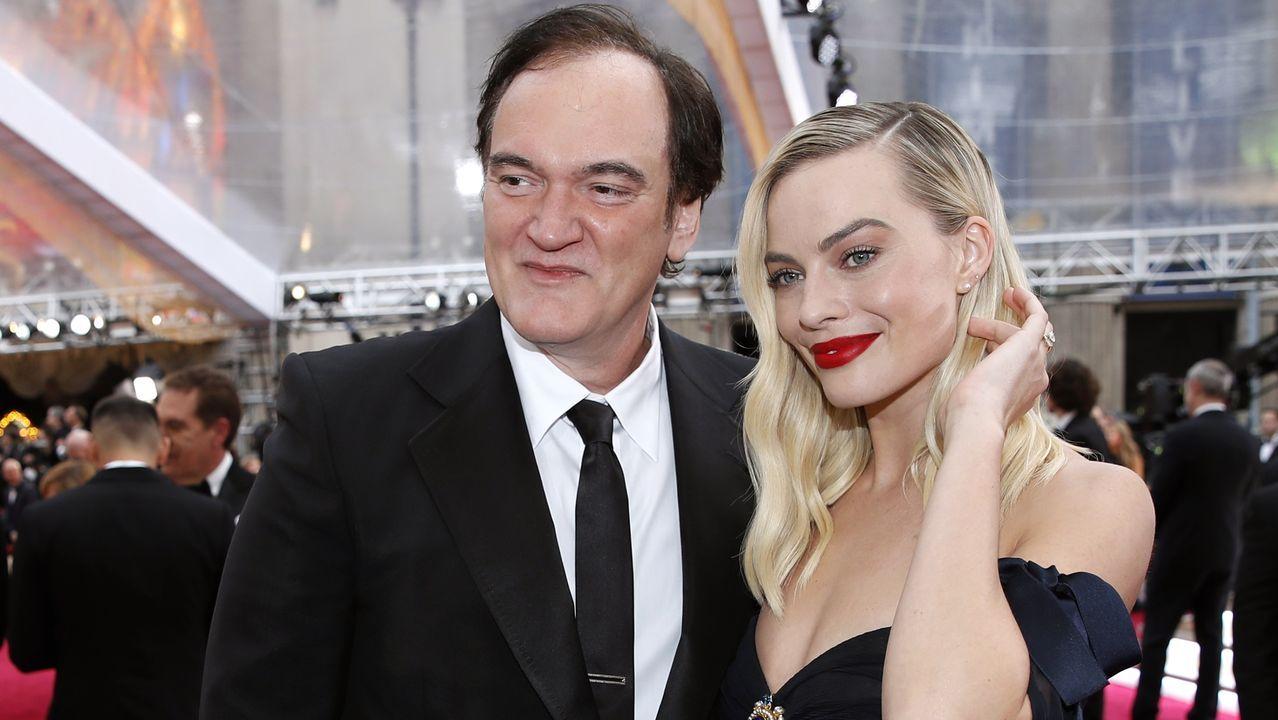 Margot Robbie y Quentin Tarantino