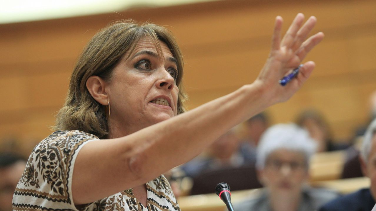 Dolores Delgado, ayer en el Senado