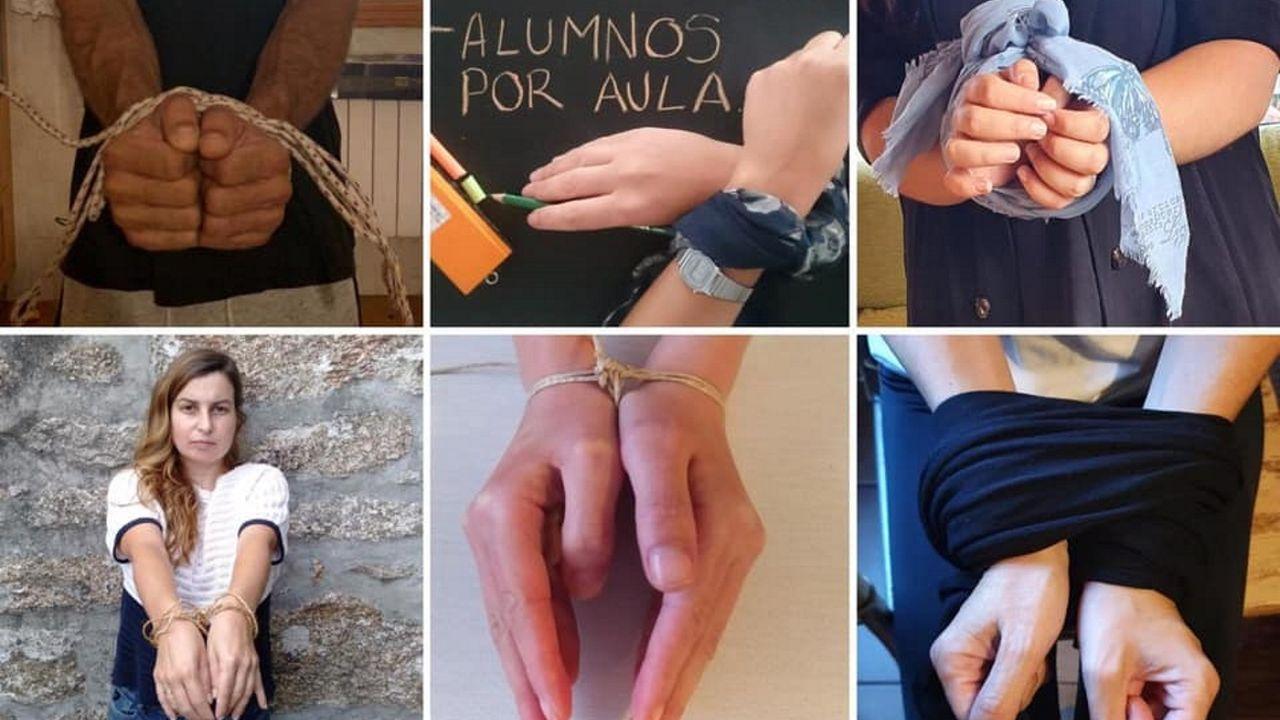 Algunas de las imágenes compartidas en las redes sociales de la asociación