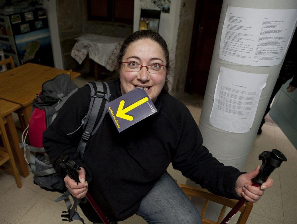 Begoña Valdomar, hospitalera en el albergue desde el inicio