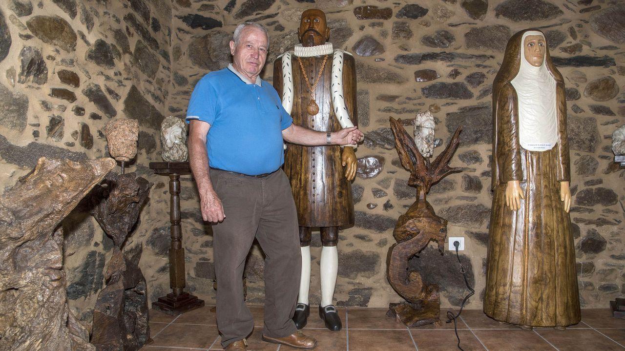 Darío Lodeiro en una de las salas de su museo, que estuvo cerrado desde octubre