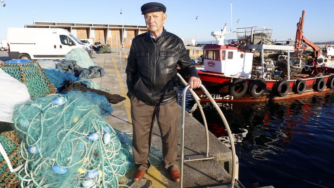 A Paquito Venturiña, como buen lobo de mar, no le faltaron sustos a bordo