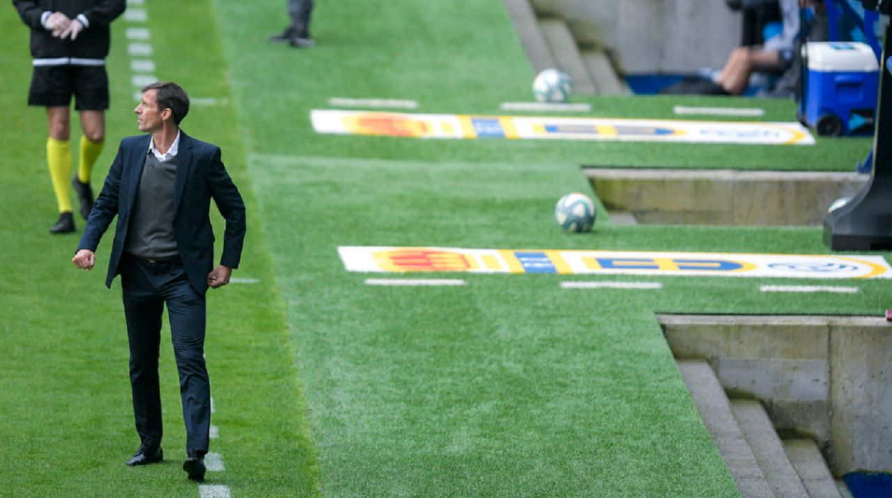 Ziganda Real Oviedo Deportivo Carlos Tartiere.Ziganda, durante un encuentro del Real Oviedo