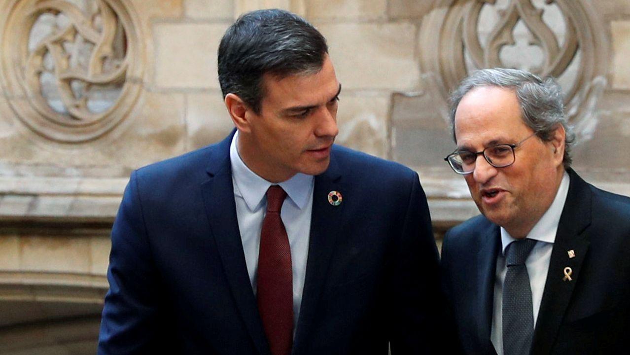 EN DIRECTO: comparece la ministra Montero tras el Consejo de Política Fiscal y Financiera.Pedro Sánchez y Quim Torra, este jueves, en el Palau de la Generalitat