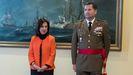 La ministra de Defensa, Margarita Robles, junto al nuevo Jefe del Estado Mayor del Ejército, Amador Enseñat y Berea