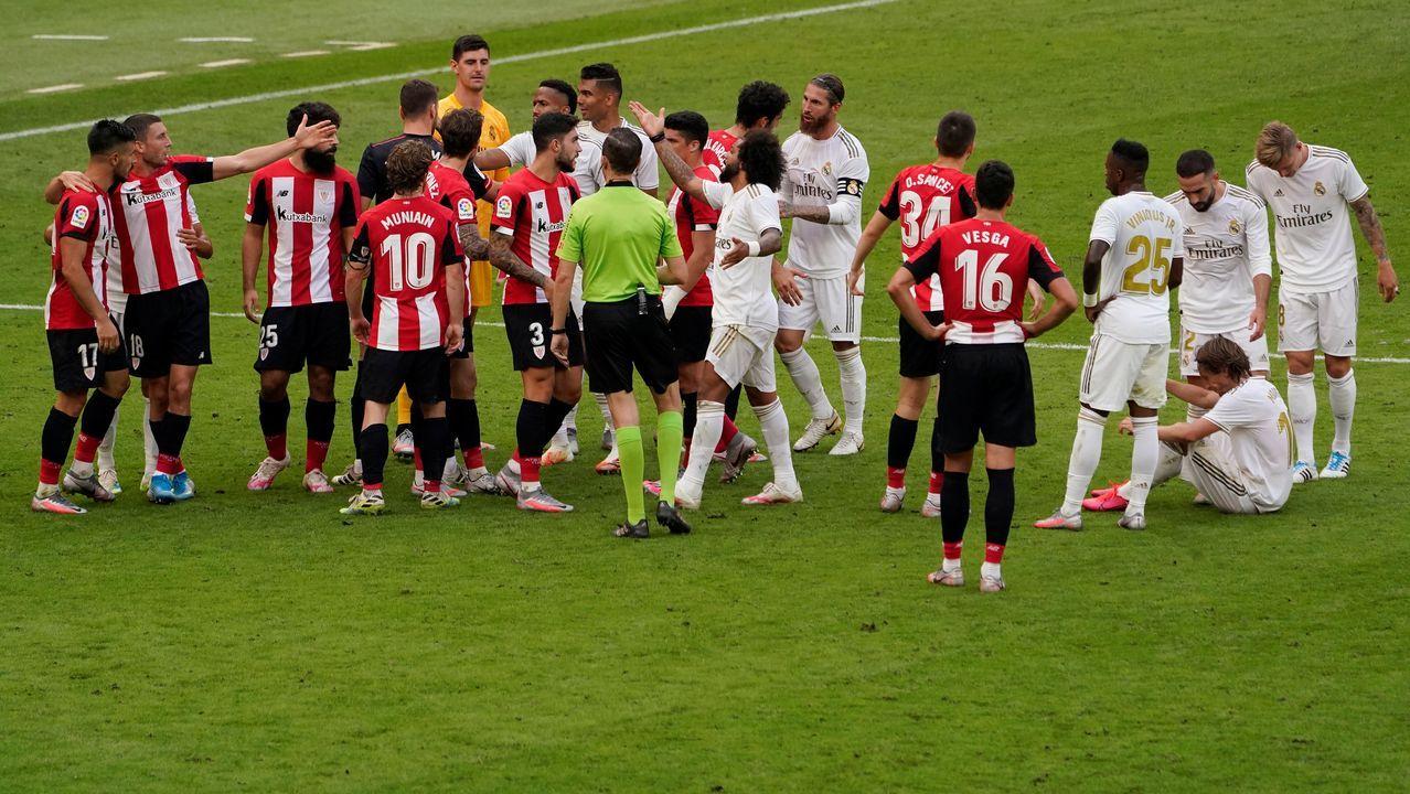 Polémica en el último partido del Real Madrid en Bilbao