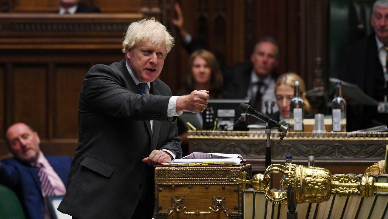 Boris Johnson, esta semana en la Cámara de los Comunes