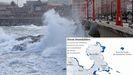 Zonas inundables en A Coruña.Zonas inundables en A Coruña
